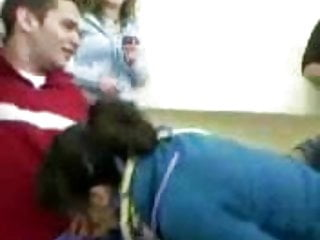 Teens in a classroom Arabic blowjob in the classroom