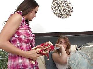 Zemanova pink dildo Horny lesbian shoves a pink dildo into sexy redheads cunt