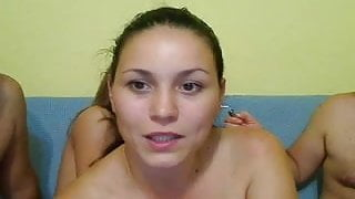 Fat Guys and Hot Girls Webcam Group Sex at Home