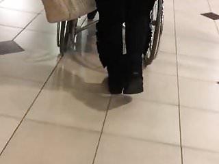 Spanked in thong pants - Turkish thong ass tight black pants walking