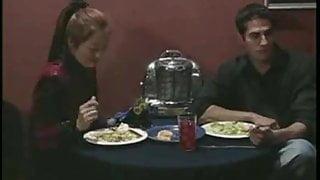 Bodybuilder fucks at restaurant