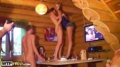 Russian sex party in a cottage