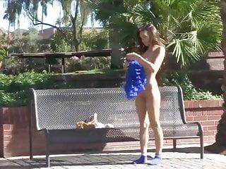 Park swing naked Naked in park