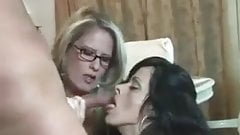 Stepmom and Teacher seduce young guy