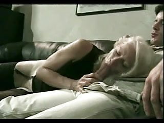 Cunt hair cum - Drizzling cum on granny kathys grey haired cunt