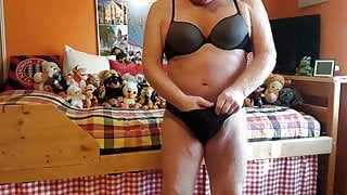 The oldie trys ladywear in his favorite chastity