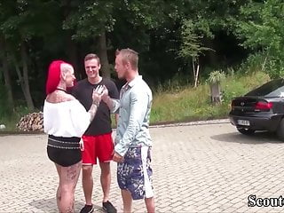 Milf seduce thong - German big tit redhead tattoo milf seduce to fuck by two boy