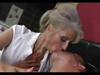 Silver hair dick cock Silver hair cougar with young friend