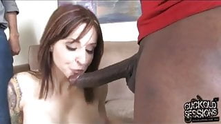 White MOM Paris creampied by black and cuckold cleans
