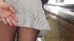 Upskirt with pantyhosed milf