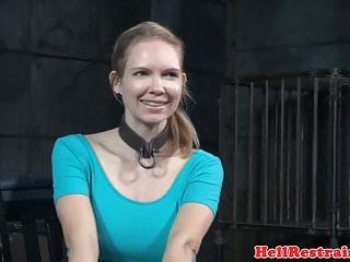 Bonde sluts Busty bonded slut gets wet while analy pumped