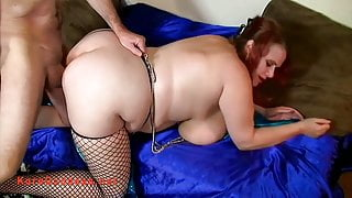 Fat ass huge tits babe spanked and fucked