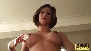 Busty euro cunt roughly trashed by maledom