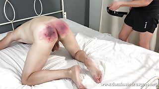 spanking of young russian guy