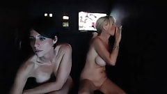 Milfs on webcam streamed from glory hole booth