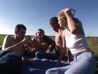 Gangbang russian teens - Russian teen outdoor gang fuck and anal