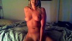 Hott blonde playing