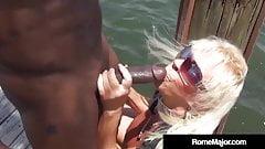 BBC Rome Major Fucks Granny Mandie McGraw On The Dock!