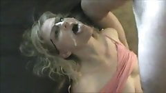 Fucked Blonde Gets Facial on Eyeglasses