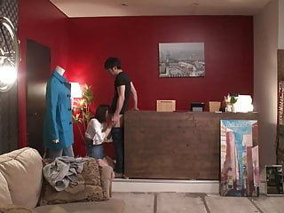 Sex with clothes on video Japanese risky sex hold the moan clothing shop foreplay