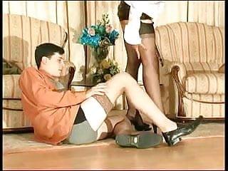 Vntage stocking sex Men in stocking sex