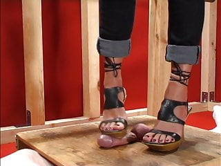 Shoes footjob - Cockbox shoe and footjob
