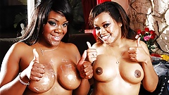 Voluptuous Imani Rose is having a foursome with friends