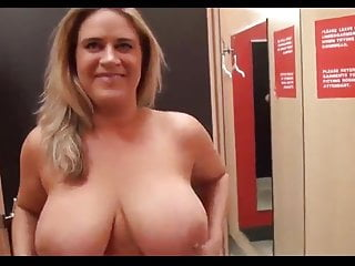 Suck tit public Big natural tits milf suck cock in public