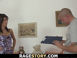 Teens forced to sex - Brunette wife takes forced blowjob and hardcore riding