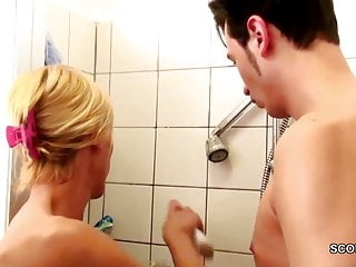 Dick druffel and sons German milf seduce to fuck by step-son big dick in shower