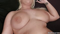 He loves her perfect big tits and fat pussy
