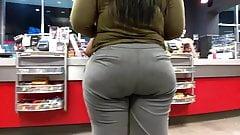 Phat Ass in Grey Slacks (QT Booty)