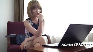 korean girl in japan filming jav
