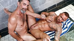 Muscular Guy Assfucked By Hung Older Man
