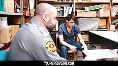 Straight Twink Boy Fucked By Bear Officer For No Cops Called