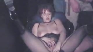 Hotwife used by a lot of strangers in an adult theater