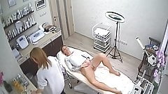 Hidden cameras. Super girl, hair removal pussy and ass