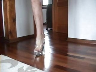 Anal platform heels movies - Slutty blonds shoejob with her transparent platform heels