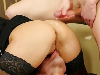 Eat food out of ass Slave food,pussy service 2