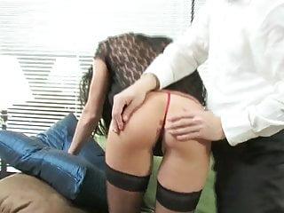 Slender brunette sluts Slender brunette banged by hard cock
