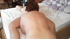 Mature sexy stepmom seduced stepson. Creampie.