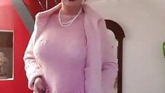 Charlene new pink mohair dress