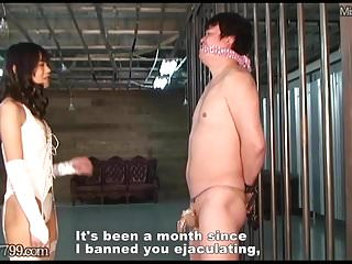 Gay masochist Mldo-150 masochist are managed in a chastity belt