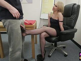 Naughty sexy video - Naughty sexy blonde sucks femdom cock