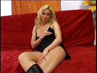 Sexy asian chick in boots - Blonde chick in boots rides a hard cock