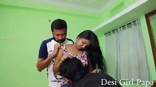 Desi Girl Sex gangbang with lovers shooting time