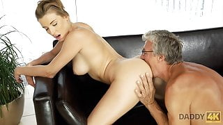 DADDY4K. Redhead catches the right moment to have sex