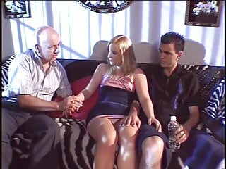 Wives sucking cocks while maturbating Curvy blonde beauty sucks two hard black cocks while her husband looks on