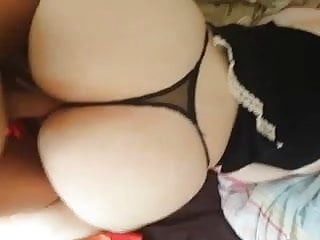 Nice round white asses Her nice round ass