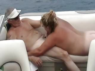Boat pee - Sharing wife on the boat